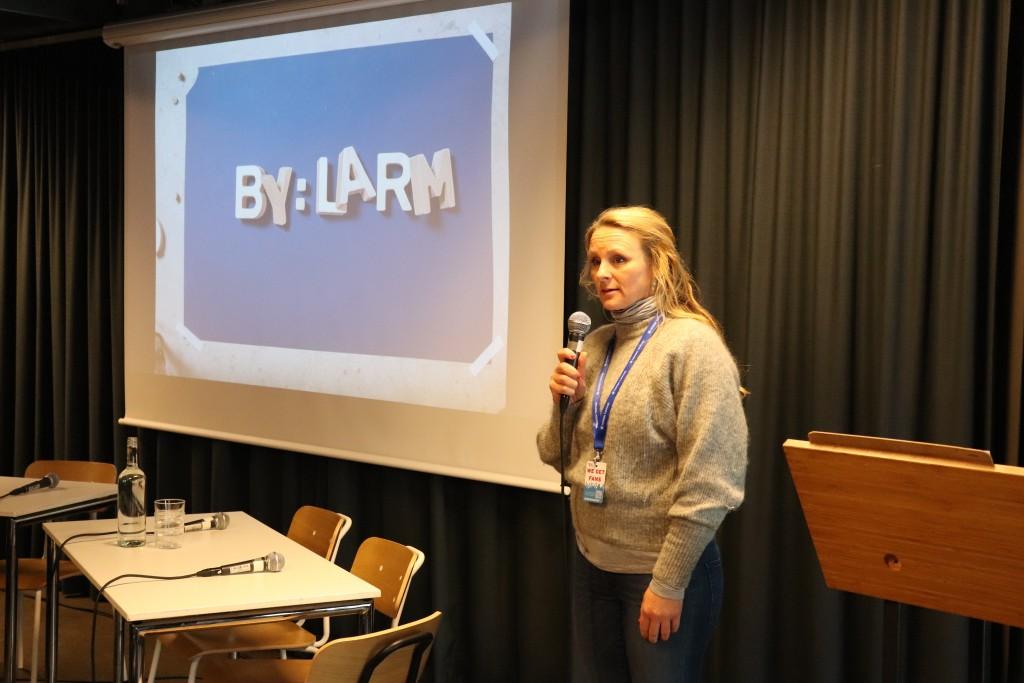 GramArts Elin Aamodt la frem uttalelsen om åndsverkloven. Foto: Anders Nielsen, GramArt