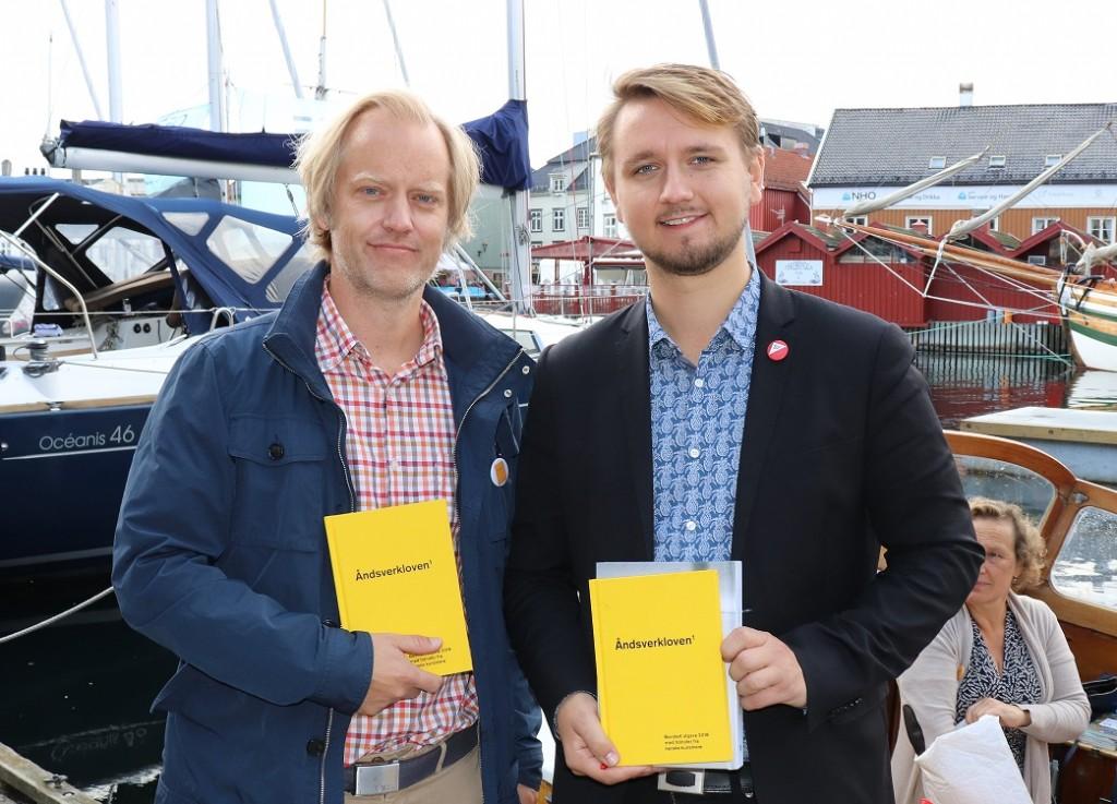 Marius Øvrebø-Engemoen og Freddy André Øvstegård. Foto: Anders Nielsen/GramArt